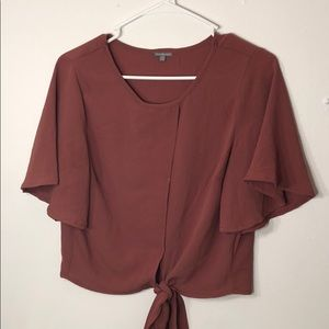 Mauve colored blouse from Charlotte Russe.